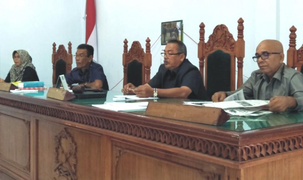 Pengarahan dan bimbingan hasil Rapat Koordinasi dan Bintek Kepaniteaan  Mahkamah Syar'iyah se Aceh Tahun 2018 Di Mahkamah Syar'iyah Meulaboh