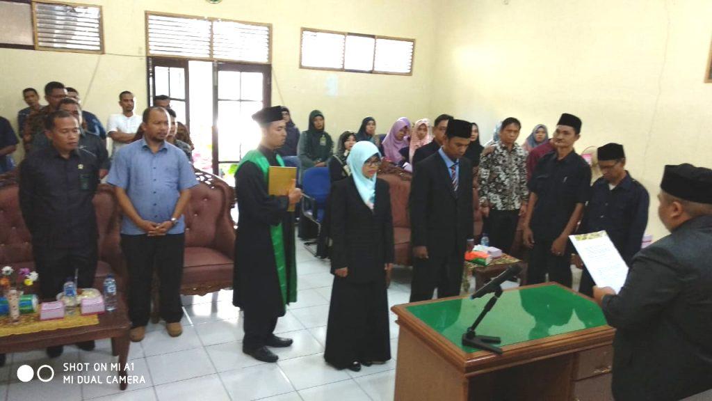 Pelantikan Saudari Nila Janiati, S.H.I.  sebagai Panitera Muda Hukum Mahkamah Syar'iyah Calang