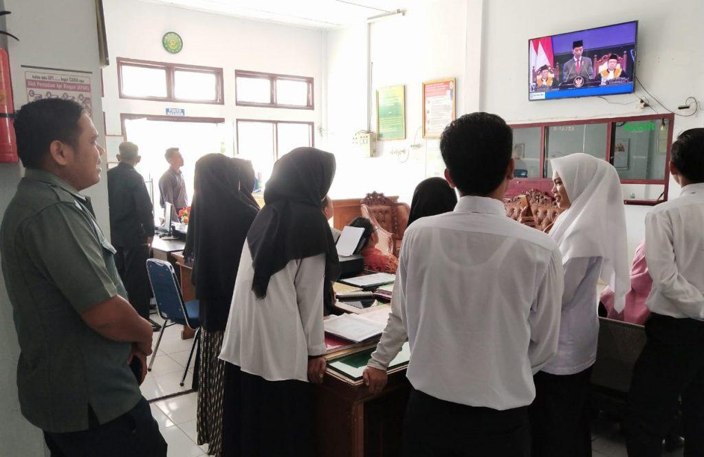 MS Meulaboh Turut Menyaksikan Acara Live Streaming Laporan Tahunan Mahkamah Agung RI Tahun 2018