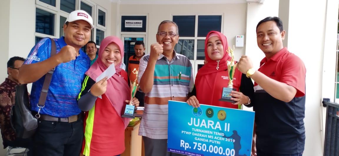 MS Meulaboh berhasil Meraih Juara II Ganda Putri  Turnamen Tenis PTWP Se- MS Aceh 2019
