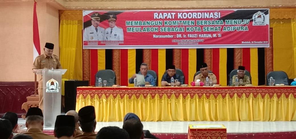 KMS Meulaboh Menghadiri  Rapat Koordinasi Menuju Meulaboh Sebagai Kota Sehat Adipura