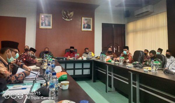 KMS Meulaboh Hadiri Rapat Koordinasi Forkopimda Pembelakuan New Normal Di Kab. Aceh Barat
