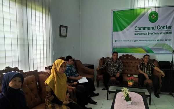 MS Meulaboh Menyaksikan Pembinaan Oleh Hakim Agung Melalui Live Streaming