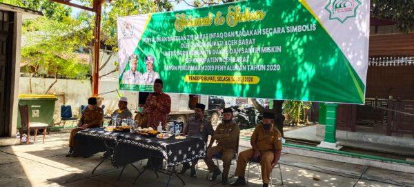 KMS Meulaboh Turut Hadir Penyaluran Zis Kab Aceh Barat