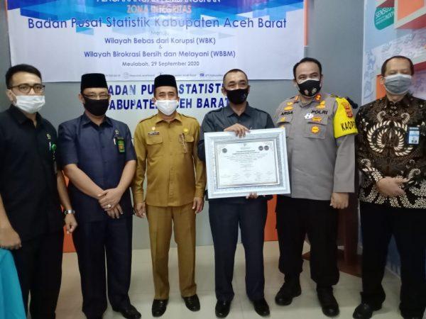 KMS Meulaboh Turut Hadir Acara Pencanangan Pembangunan ZI  Menuju WBK Dan WBBM  Badan Pusat Statistik Aceh Barat
