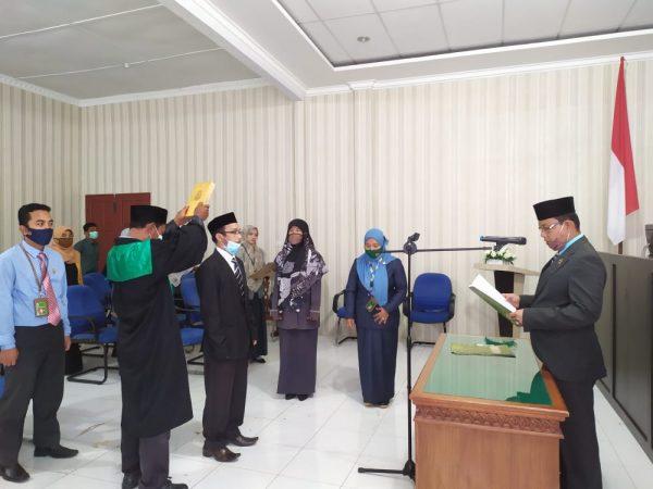 Pengambilan Sumpah Dan Pelantikan Jabatan Kepala Sub. Bagian Kepegawaian, Organisasi Dan Tata Laksana MS Meulaboh